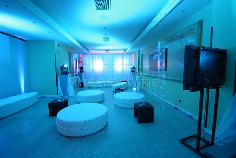 голубая комната стоковое изображение