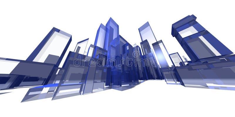 голубая крайность городского пейзажа бесплатная иллюстрация