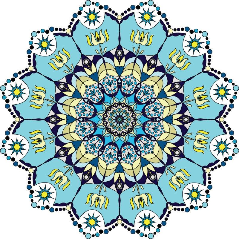 Голубая красочная мандала бесплатная иллюстрация