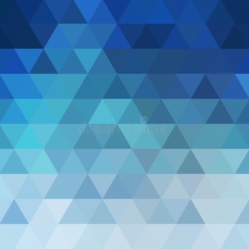 голубая красочная триангулярная предпосылка r план для рекламировать шаблон представления 10 eps иллюстрация вектора