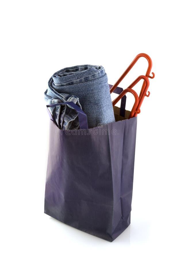 голубая купленная джинсовая ткань стоковое изображение rf