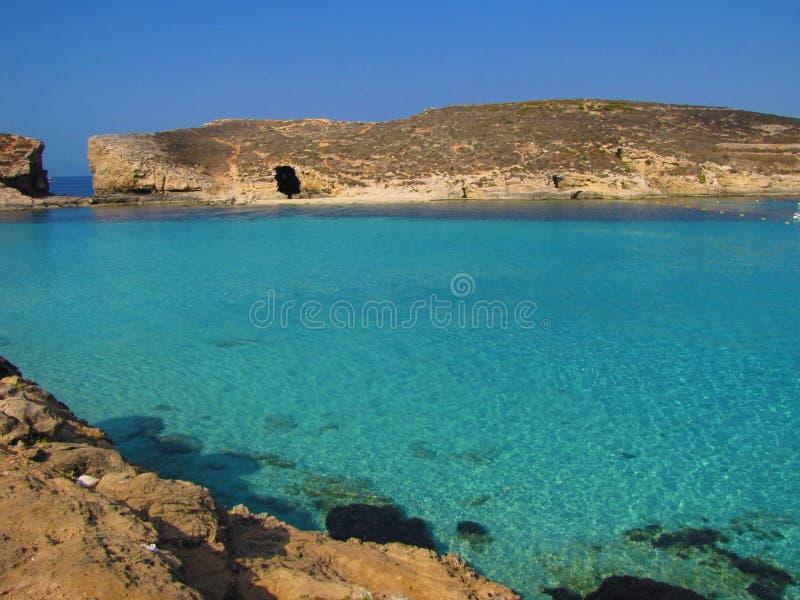 голубая лагуна malta стоковое фото rf