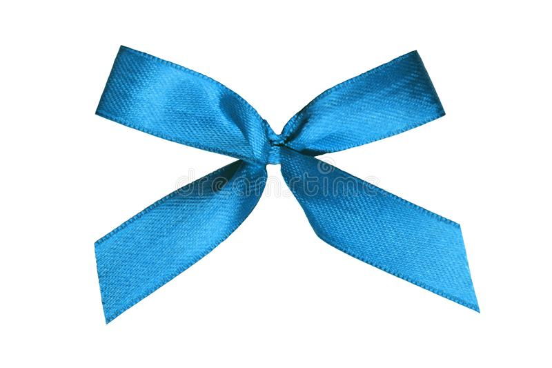 Голубая лента на белой предпосылке стоковое изображение rf