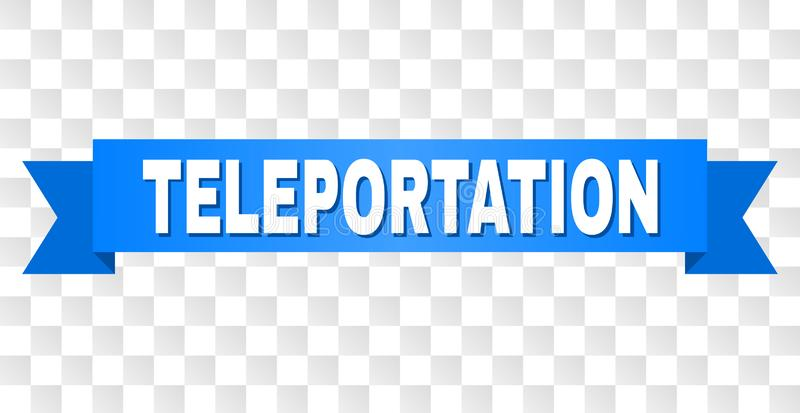Голубая лента с титром ТЕЛЕПОРТАЦИИ бесплатная иллюстрация