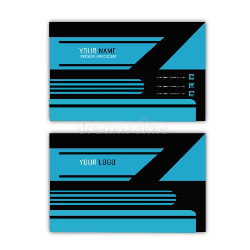 Голубая линия визитная карточка бесплатная иллюстрация