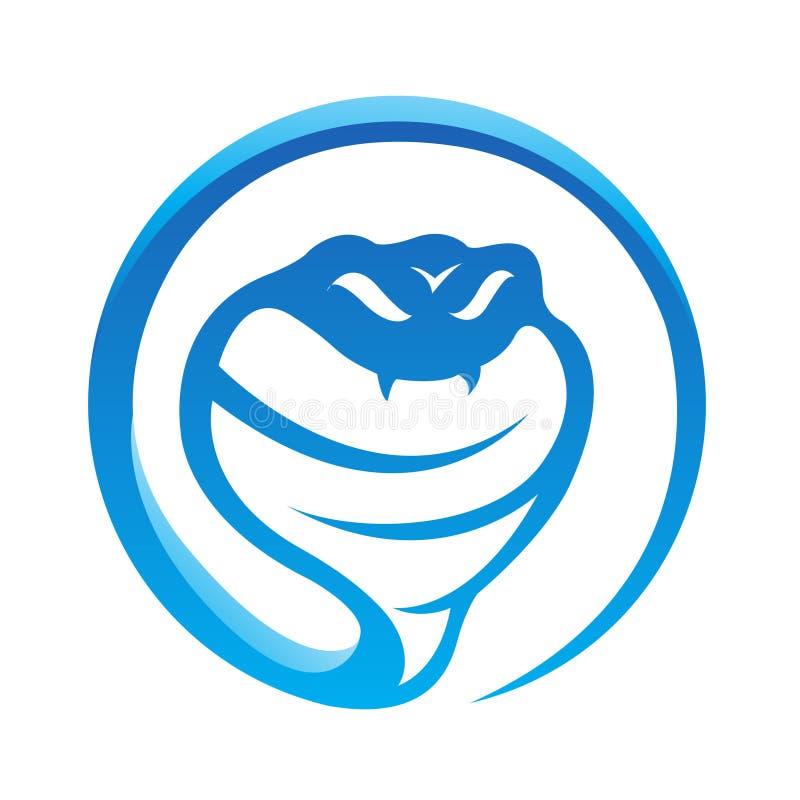 голубая лоснистая змейка иллюстрация вектора