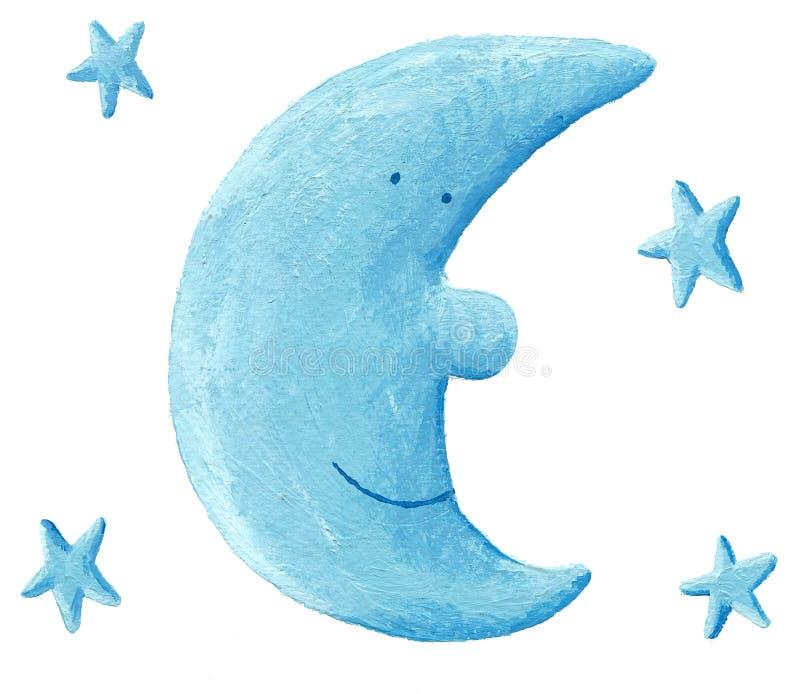 голубая луна иллюстрация вектора