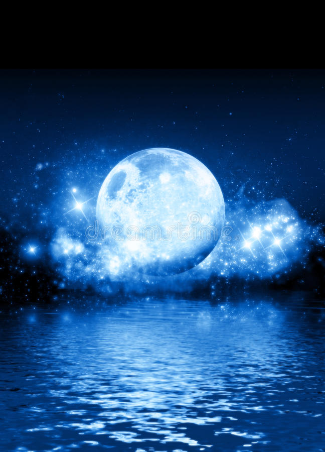 голубая луна стоковое фото
