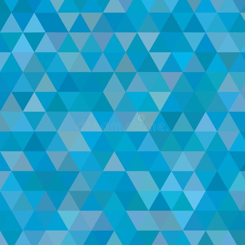 Голубая малая предпосылка треугольников иллюстрация вектора