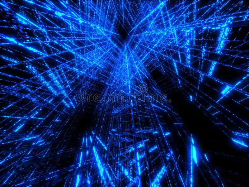 голубая матрица иллюстрация вектора