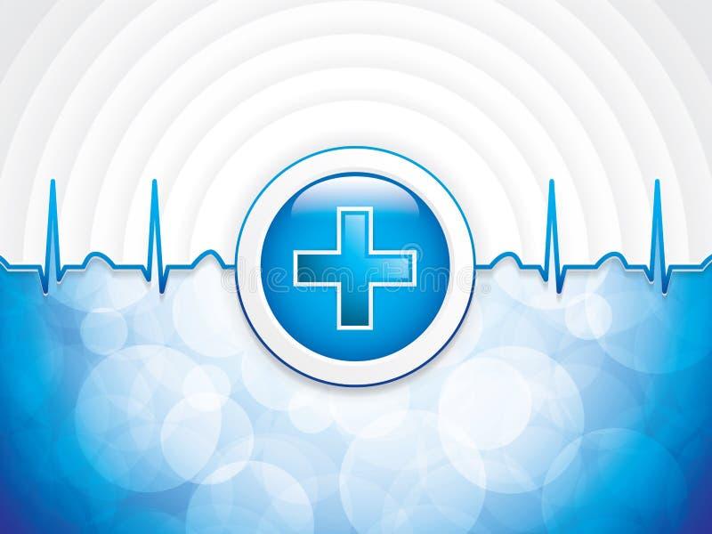Голубая медицинская предпосылка бесплатная иллюстрация