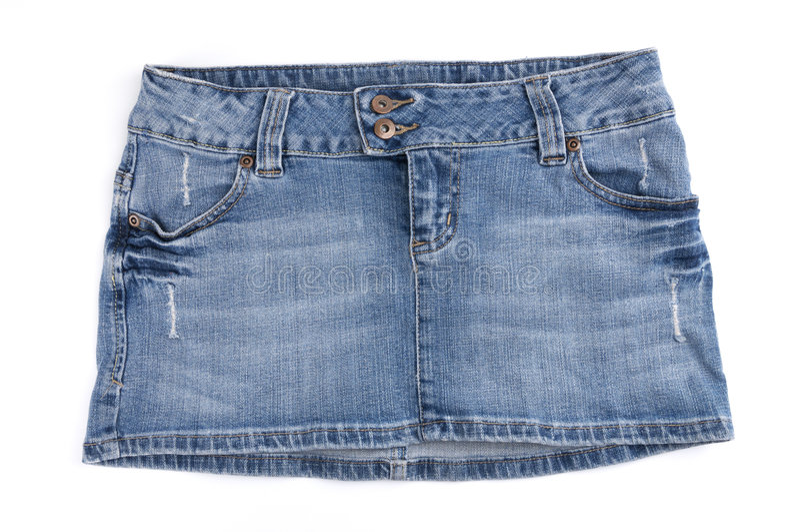 голубая миниая юбка стоковые фото