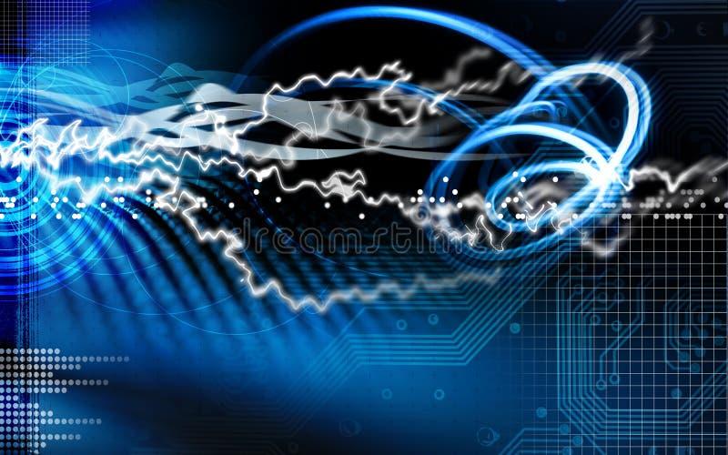 голубая молния иллюстрации цепи стоковое изображение rf