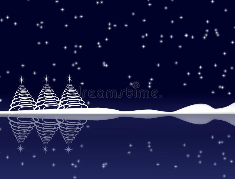 Download голубая ноча рождества иллюстрация штока. иллюстрации насчитывающей вода - 6860959