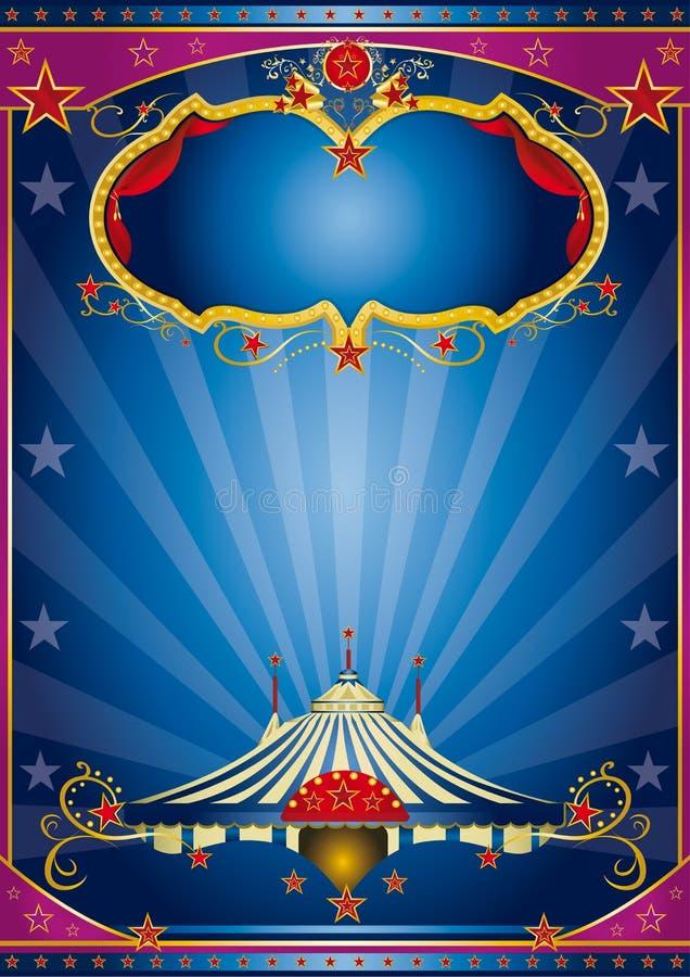 Голубая ноча цирка иллюстрация вектора