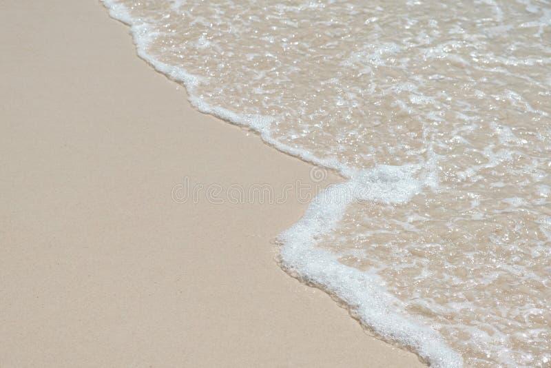 Голубая океанская волна на песчаном пляже стоковое изображение rf