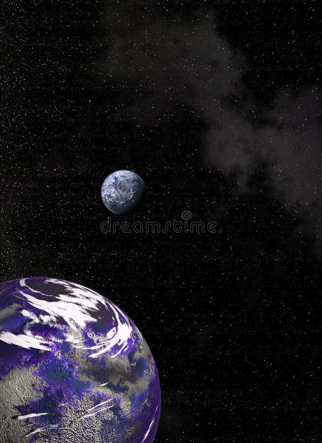 голубая орбита стоковое изображение rf