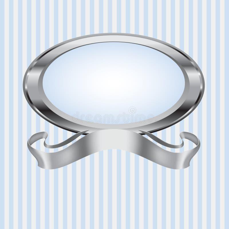 голубая перла серого цвета рамки иллюстрация вектора