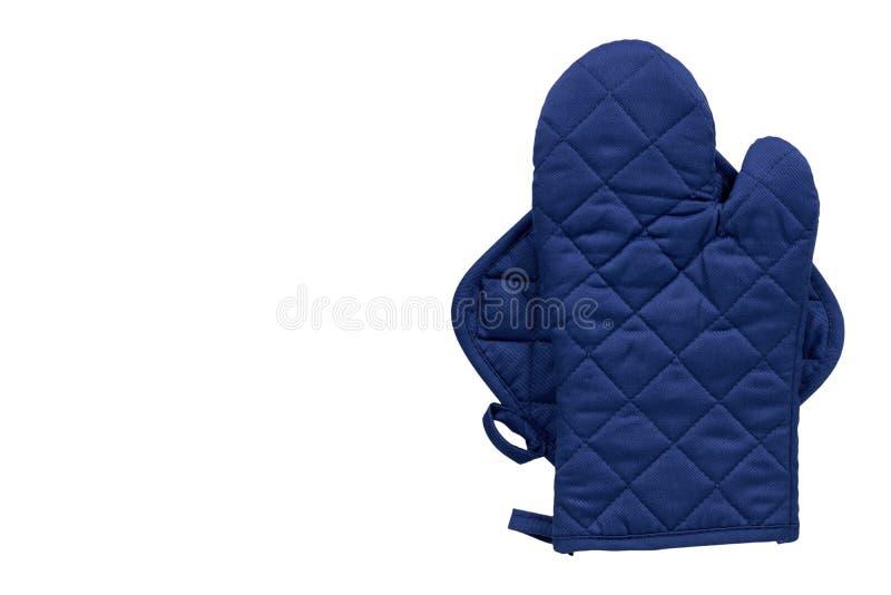 Голубая перчатка кухни, предохранение от жары и безопасность стоковое изображение rf