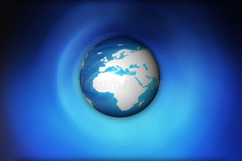 голубая планета иллюстрация вектора
