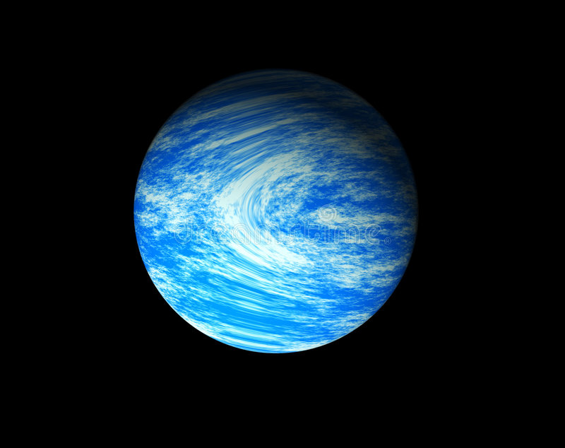 голубая планета иллюстрация штока