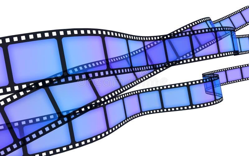 голубая пленка иллюстрация вектора