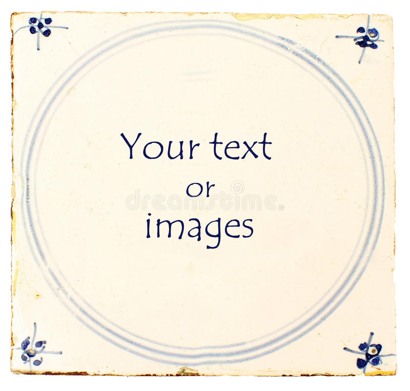 голубая плитка текста комнаты delft голландская стоковая фотография