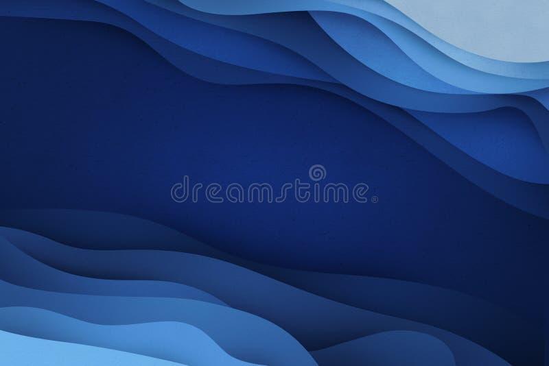 Голубая подача applique иллюстрация штока