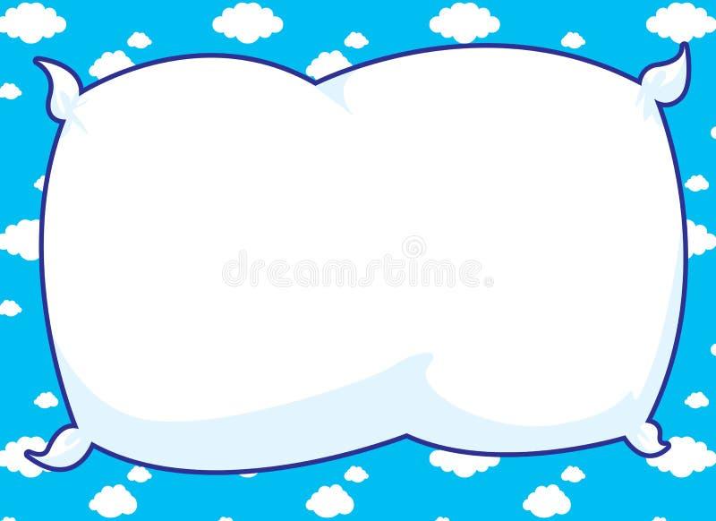 голубая подушка рамки иллюстрация вектора