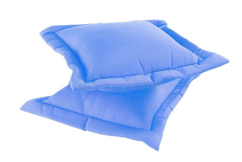 голубая подушка стоковые изображения
