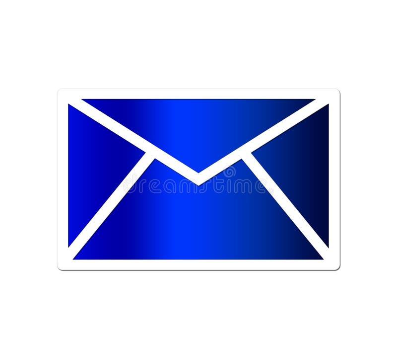 голубая почта иллюстрация штока