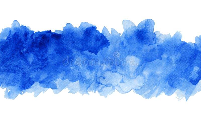 Голубая предпосылка акварели, тени сини иллюстрация штока