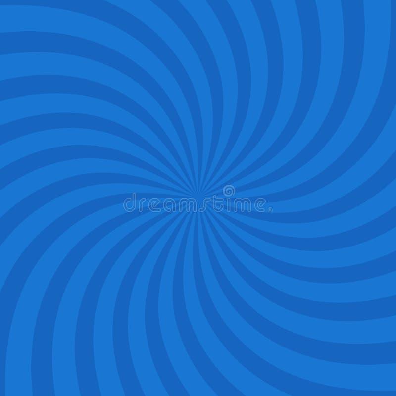 Голубая предпосылка взрыва свирли круга цвета вектор бесплатная иллюстрация