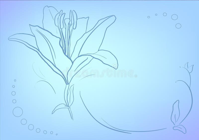 Голубая предпосылка градиента сетки - острословие поздравительной открытки tempate иллюстрация вектора