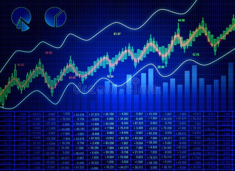 Голубая предпосылка диаграммы валют иллюстрация штока