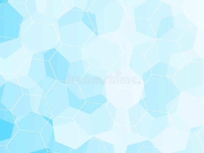 Голубая предпосылка мозаики решетки, творческие шаблоны дизайна иллюстрация вектора