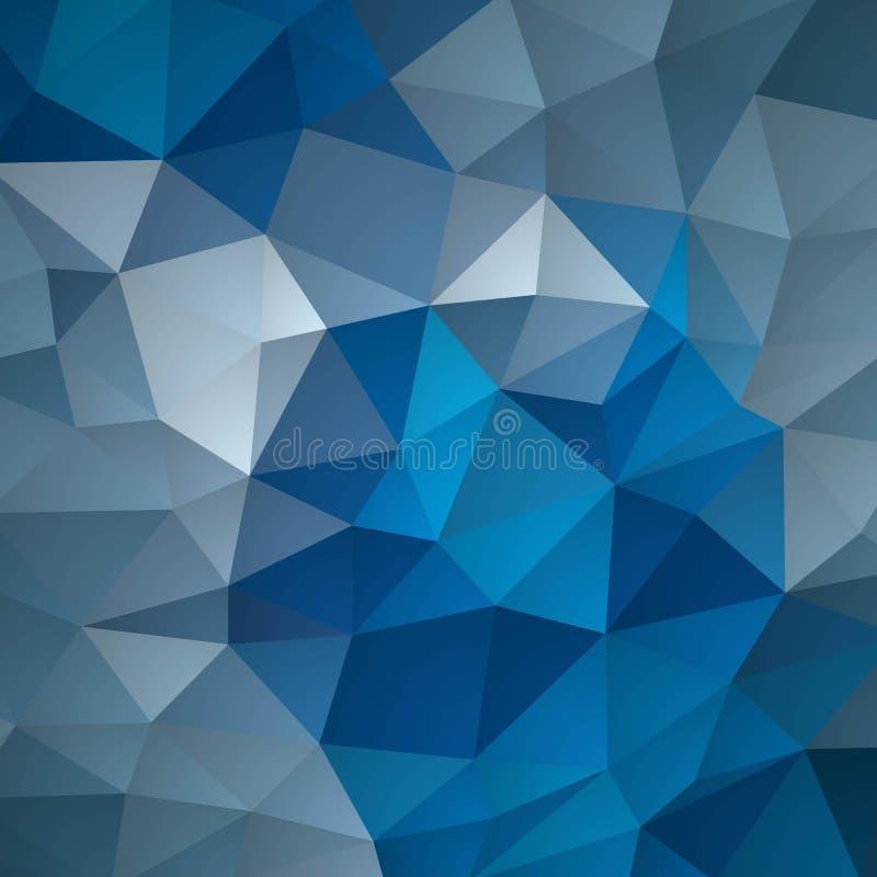 Голубая предпосылка мозаики решетки, творческие шаблоны дизайна - Vektorgrafik иллюстрация вектора