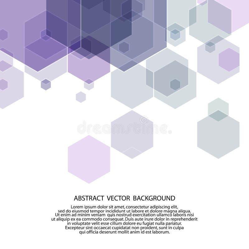 Голубая предпосылка мозаики решетки, творческие шаблоны дизайна бесплатная иллюстрация