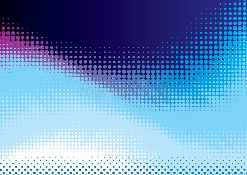 Голубая предпосылка halftone бесплатная иллюстрация