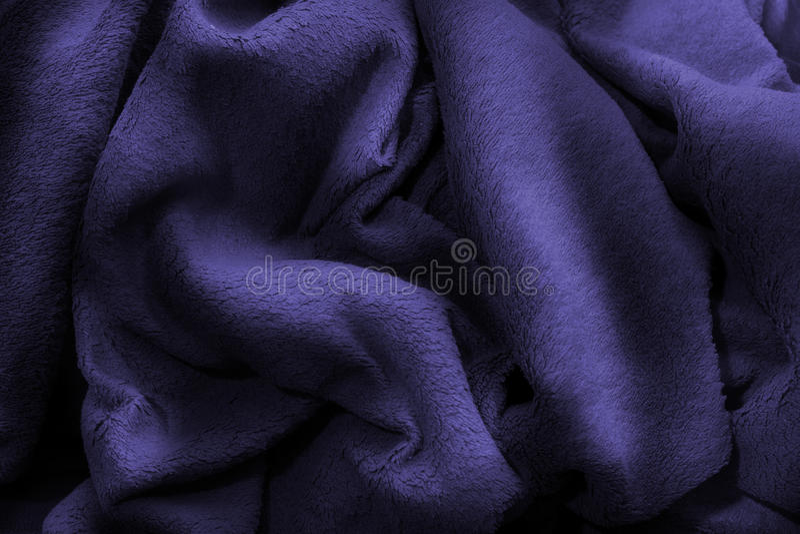 Голубая приполюсная роскошь одеяла ватки стоковая фотография rf