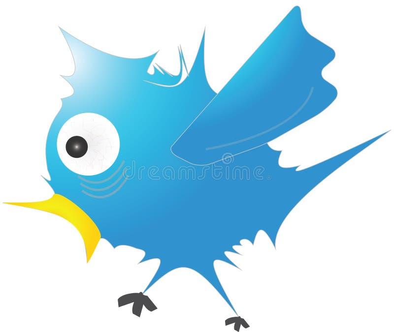 Голубая птица иллюстрация вектора