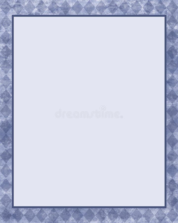 голубая рамка диаманта иллюстрация штока