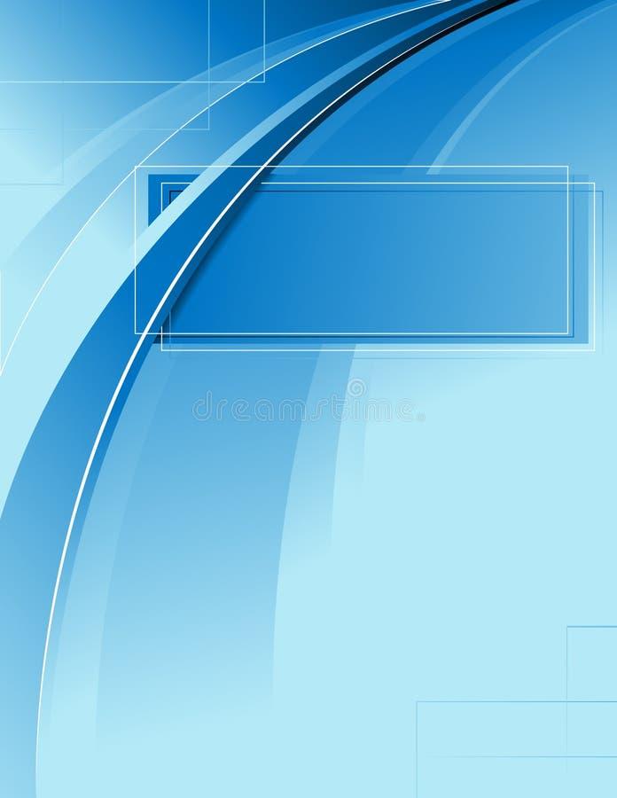 голубая рамка иллюстрация вектора