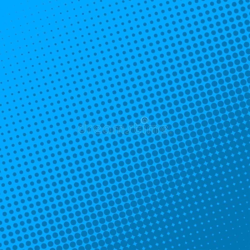 Голубая ретро предпосылка страницы комика Влияние полутонового изображения стоковое фото
