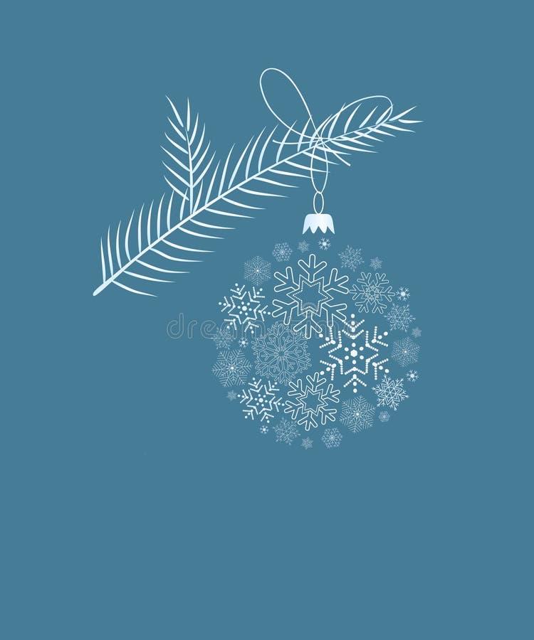голубая рождественская елка карточки бесплатная иллюстрация