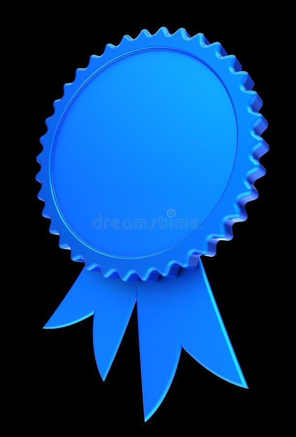 Голубая розетка медали вознаграждением пробела ленты награды иллюстрация вектора