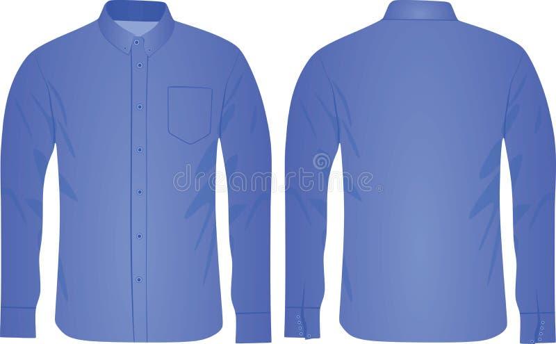 Голубая рубашка человека иллюстрация вектора