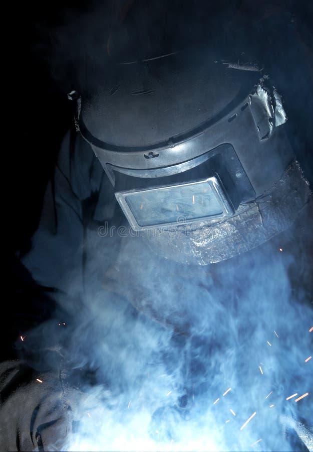 голубая сварка тумана стоковые фото