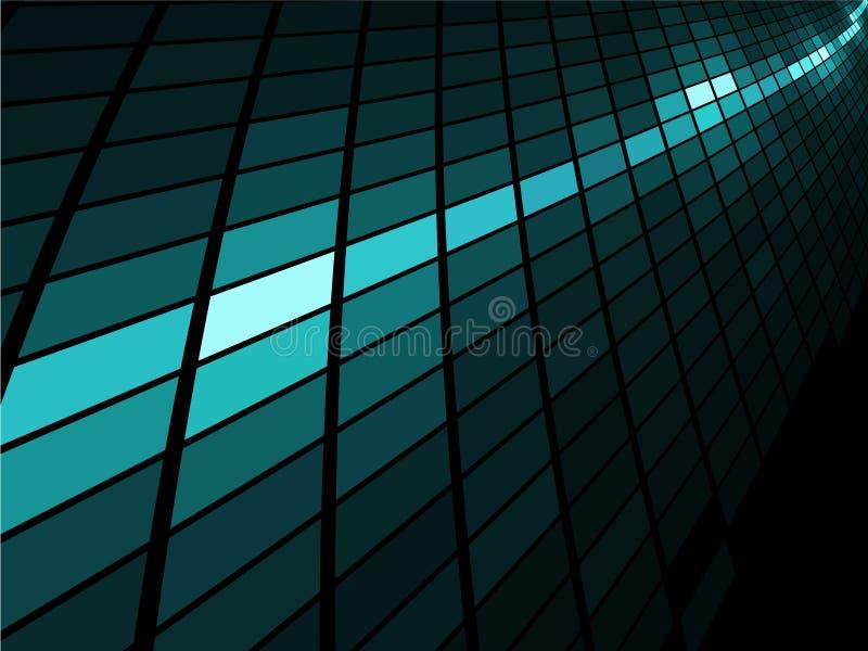 голубая светлая нашивка мозаики бесплатная иллюстрация