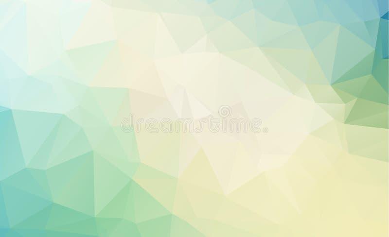 Голубая светлая полигональная низкая предпосылка картины треугольника полигона иллюстрация штока
